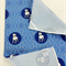 Tea Towel - Staffordshire Terrier Dog Breed in Blue and White (custom design)
