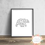 Geo Bear - Wall Art Print