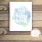Baby Record Book - Boy - Watercolour Splashes - Basic