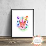 Watercolour Tiger - Wall Art Print