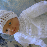 Hand knitted Baby Jacket and Hat