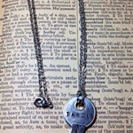 Dr. Who Tardis Pendant - Hand-stamped Key to the Tardis
