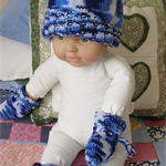 Baby Hat, booties and mitts fit newborn
