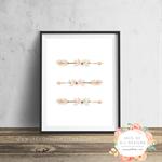 Floral Arrows - Wall Art Print