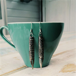 Vintage Fountain Pen Earrings Embellished With Sterling Silver