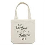CRUELTY FREE Cream Tote Bag