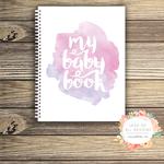 Baby Record Book - Girl - Watercolour Splashes - Basic