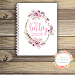 Baby Record Book - Girl - Floral Watercolour - Basic