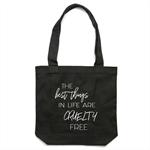 CRUELTY FREE Black Tote Bag