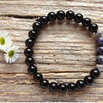 Black Onyx Gemstone & Labradorite Bead Bracelet