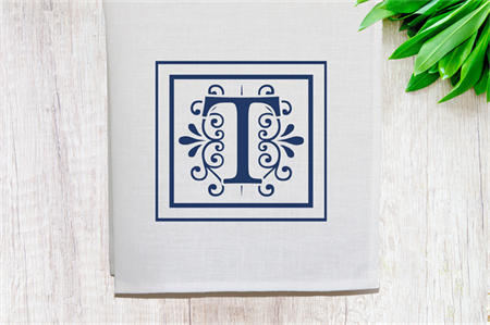 Personalised Linen Tea Towel in Off White