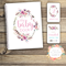 GIFT SET: Baby Record Book & Milestone Cards - Floral Watercolour