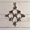 Peridot Chandelier Pendant Necklace, sterling silver