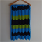 Chevron crochet baby blanket | azure blue, black, green | gift | baby shower