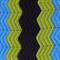 Chevron crochet baby blanket | azure blue, black, green | gift | baby shower