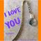 I LOVE YOU  bookmark