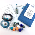 Make it yourself necklace gift kit-handcrafted polymer clay beads- Monet floral