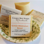 Good Morning Soap, Invigorating peppermint + sweet orange, oatmeal soap