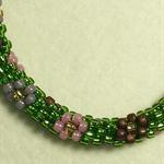 Flower Kumihimo Beaded Bracelet