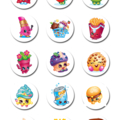 """Shopkins Edible Icing Cupcake Toppers - 2"""" - PRE-CUT"""