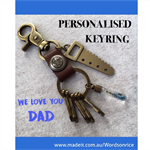 WE LOVE YOU DAD personalised keyring