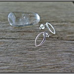 MARQUISE, STERLING SILVER STUD EARRINGS