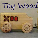 Wooden Toy Train - 3 piece - Loco,  Coal tender and Caboose