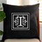 Personalised Linen Cushion Cover in Black