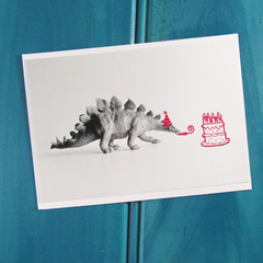 Pretty in Pink Dinosaur Birthday Card