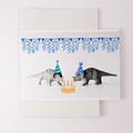 Triceratops Party Dinosaur Birthday Card