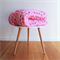 Super Chunky Knit Blanket in True Pink (Small) - 100% Australian Merino Wool