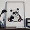 Animal Nursery print, Nursery wall art, Panda art, Modern nursery decor,