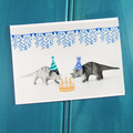 Triceratops Party Dinosaur Birthday Card