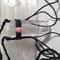 Clear Quartz Pointer vegan-friendly black cotton necklace with Rhodochrosite
