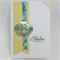 Thinking of You Card - Vase, Gold and aqua