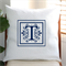 Personalised Linen Cushion Cover in Off White