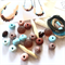 Make it yourself 2 necklace gift kit-handcrafted polymer clay/wood/resin  beads