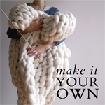 Made to Order Giant Chunky Knit Wool Blanket Medium Size - Stockinette Stitch