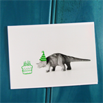 Feeling Green Dinosaur Birthday Card