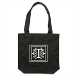 Personalised Monogram Black Tote Bag [apex]