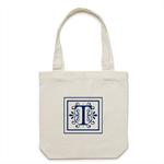 Personalised Monogram Cream Tote Bag [apex]