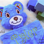 Minky Bear 'Ruggybud' - personalised, comforter, keepsake, lovey.
