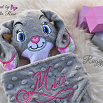 Minky Bunny 'Ruggybud' - personalised, comforter, keepsake, lovey.