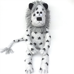 'Lance' the Sock Lion - grey with black stars - *READY TO POST*