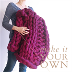 Made to Order Hand Knitted Giant Chunky Knit Blanket/Throw, Rib Stitch (Medium)