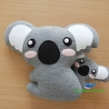 Koala Pillow Plush / Koala Plush / Koala Softie / Koala Toy