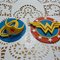 12x Wonder Woman inspired superhero edible fondant cupcake toppers