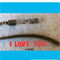 I LOVE YOU antique bronze bookmark