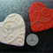 24x Edible Fondant Patterned Hearts engagement / wedding / valentines