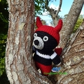 Tasmanian Devil in Devil Costume Plush / Amigurumi Tasmanian Devil